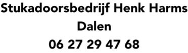 Stukadoorsbedrijf Henk Harms Dalen